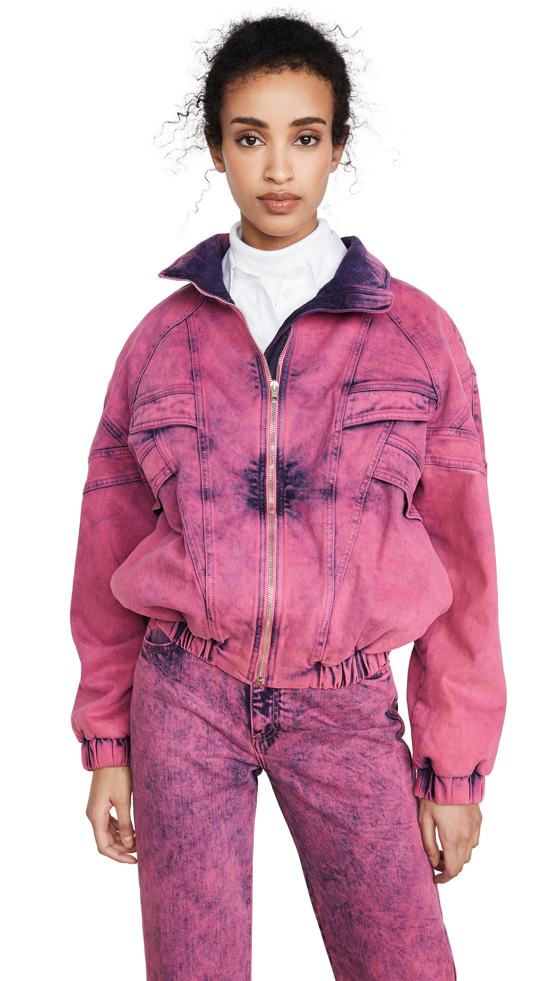 Buy Stella McCartney online - photo of Stella McCartney Neon Pink Galaxi Jacket