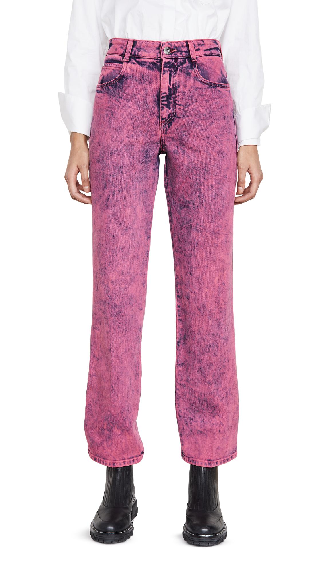 Buy Stella McCartney online - photo of Stella McCartney Mid-Rise Crop Neon Jeans