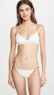 Stella McCartney Falabella Triangle Bikini Top