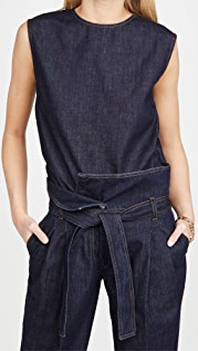 Stella McCartney Piper Denim Top Dark Indigo Wash