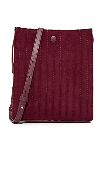 Steven Alan Camden Cross Body Bag - Merlot Quilted