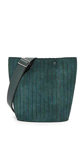 Steven Alan Rhys Bucket Bag - Ink Green Quilted