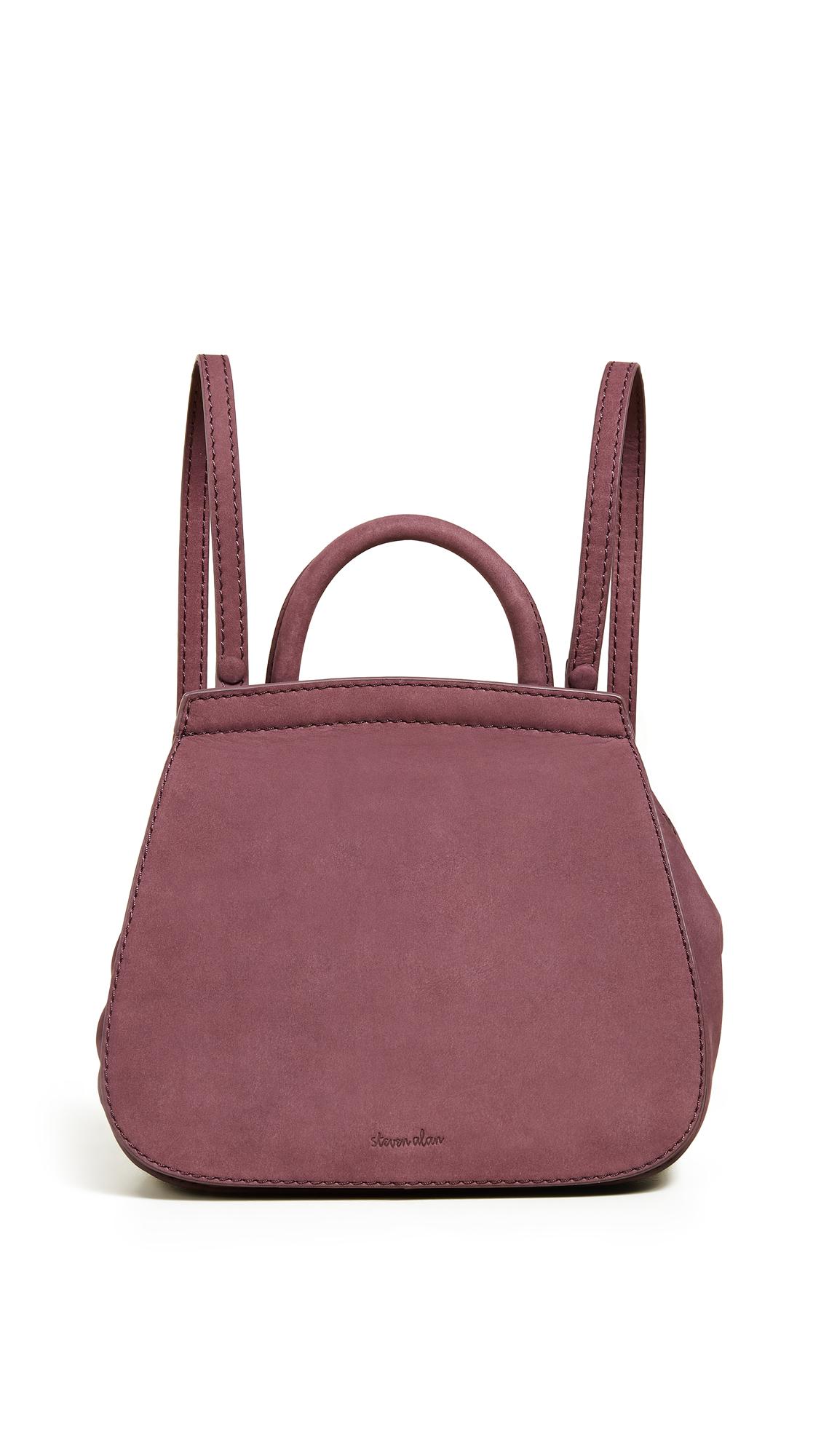 STEVEN ALAN Kate Mini Convertible Backpack in Vineyard Wine