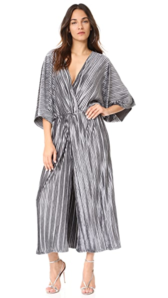 Stevie May The Kiss Pleated Jumpsuit - Dark Grey