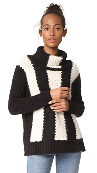 St. Roche Jerry Sweater In Black/Ivory