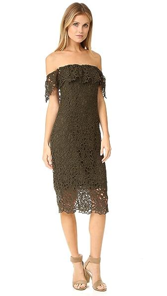 STYLESTALKER Thalia Lace Off Shoulder Dress