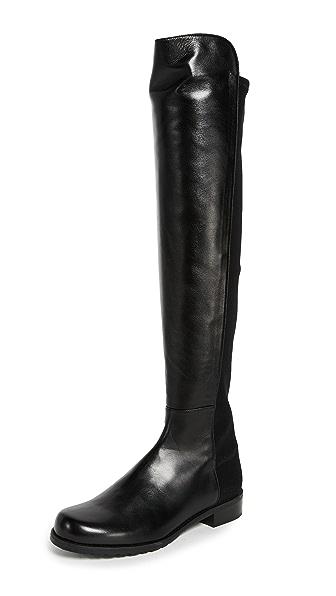 Stuart Weitzman 5050 Flat Boots In Black