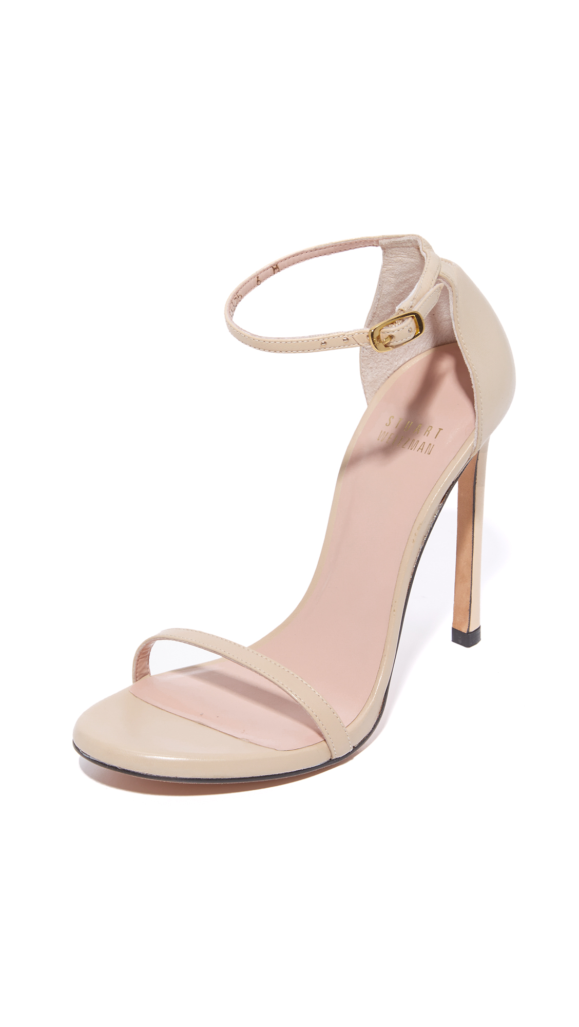 Stuart Weitzman Nudist 110mm Sandals - Pan