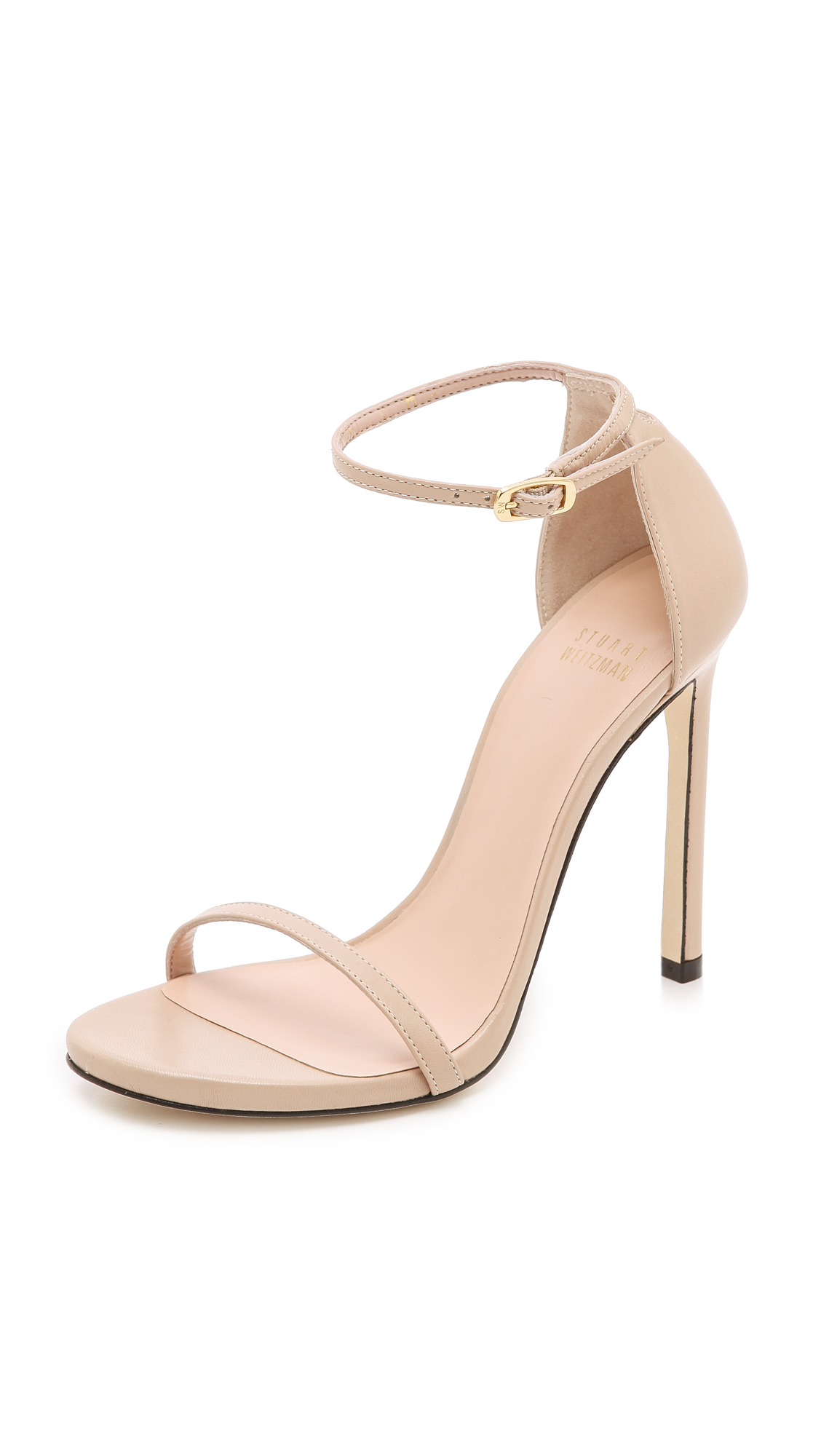 Stuart Weitzman Nudist 110mm Sandals - Adobe