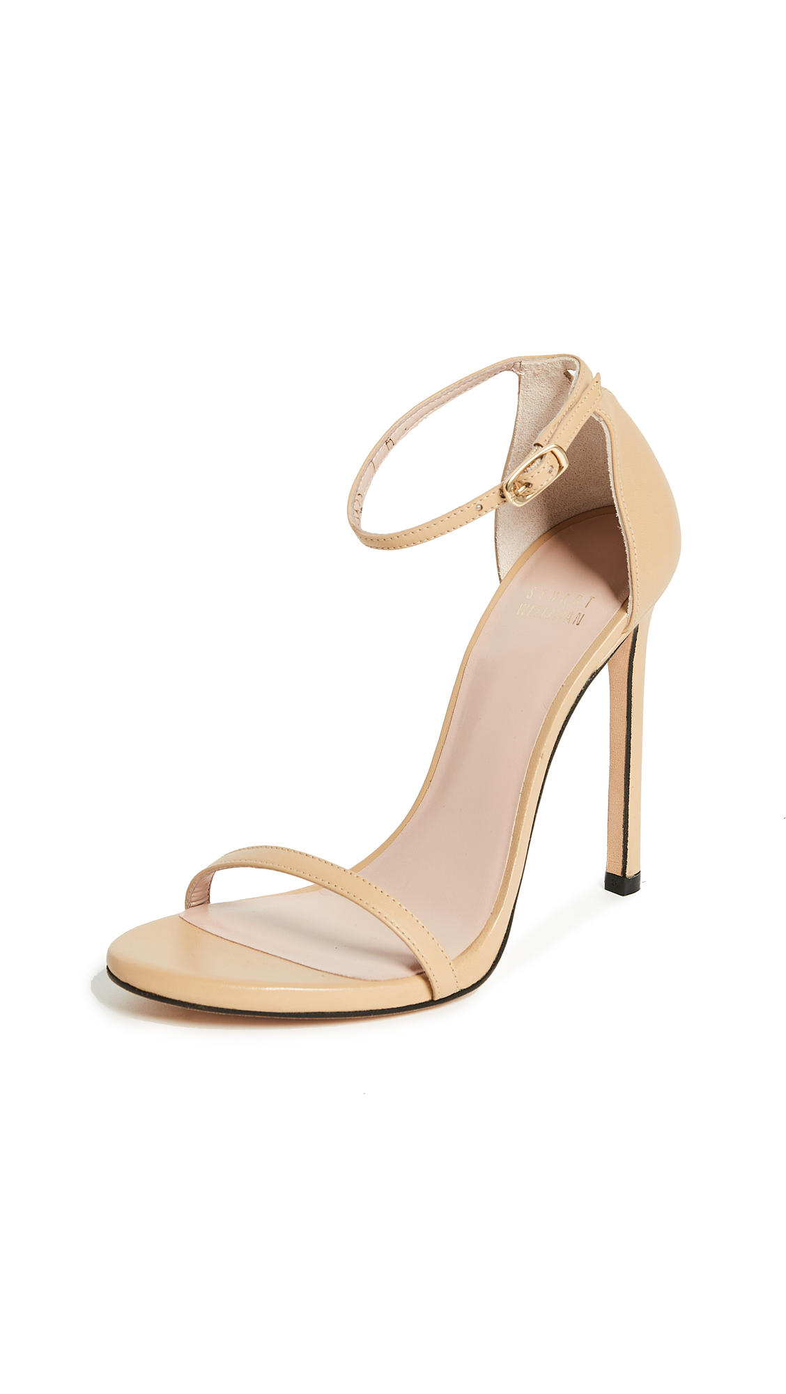 Stuart Weitzman Nudist 110mm Sandals - Light Camel