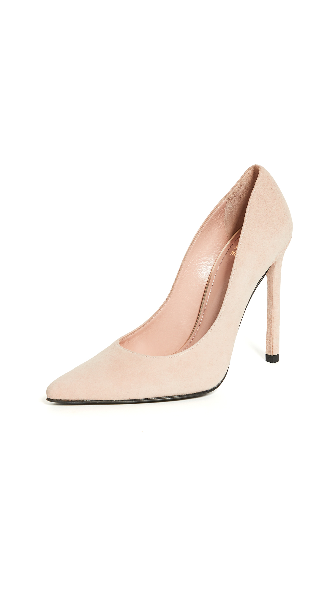 Stuart Weitzman Queen 110mm Suede Pumps - Bisque