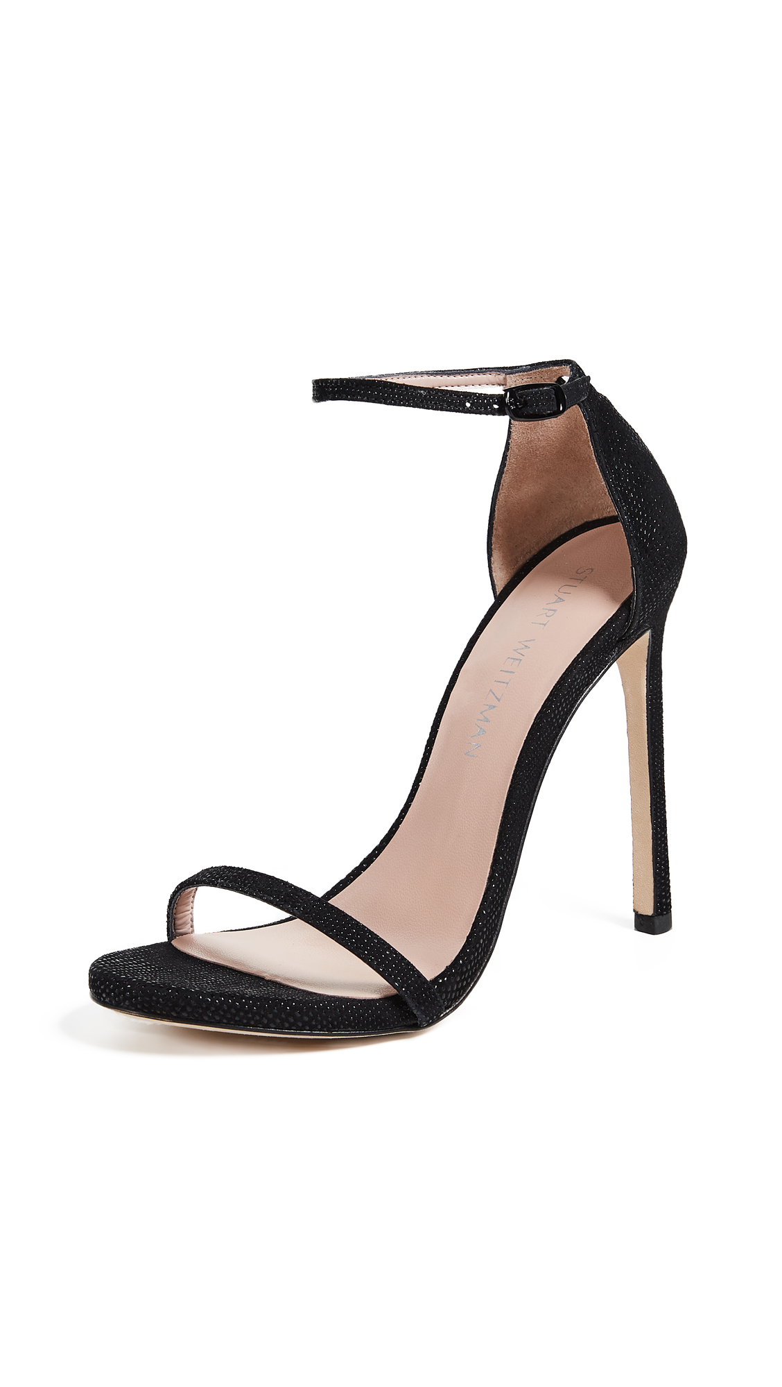 Stuart Weitzman Nudist Sandals - Black