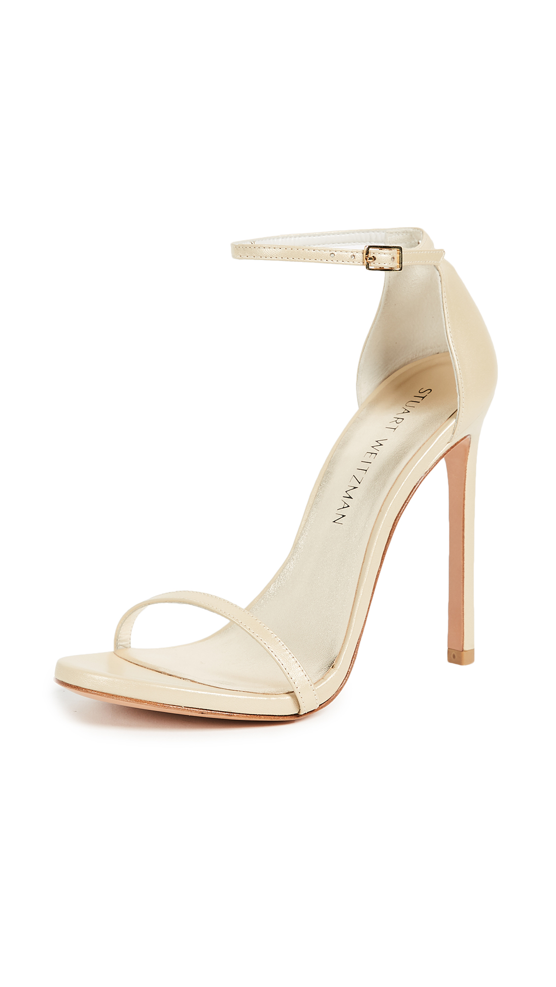 Stuart Weitzman Nudist Sandals - Pale Gold