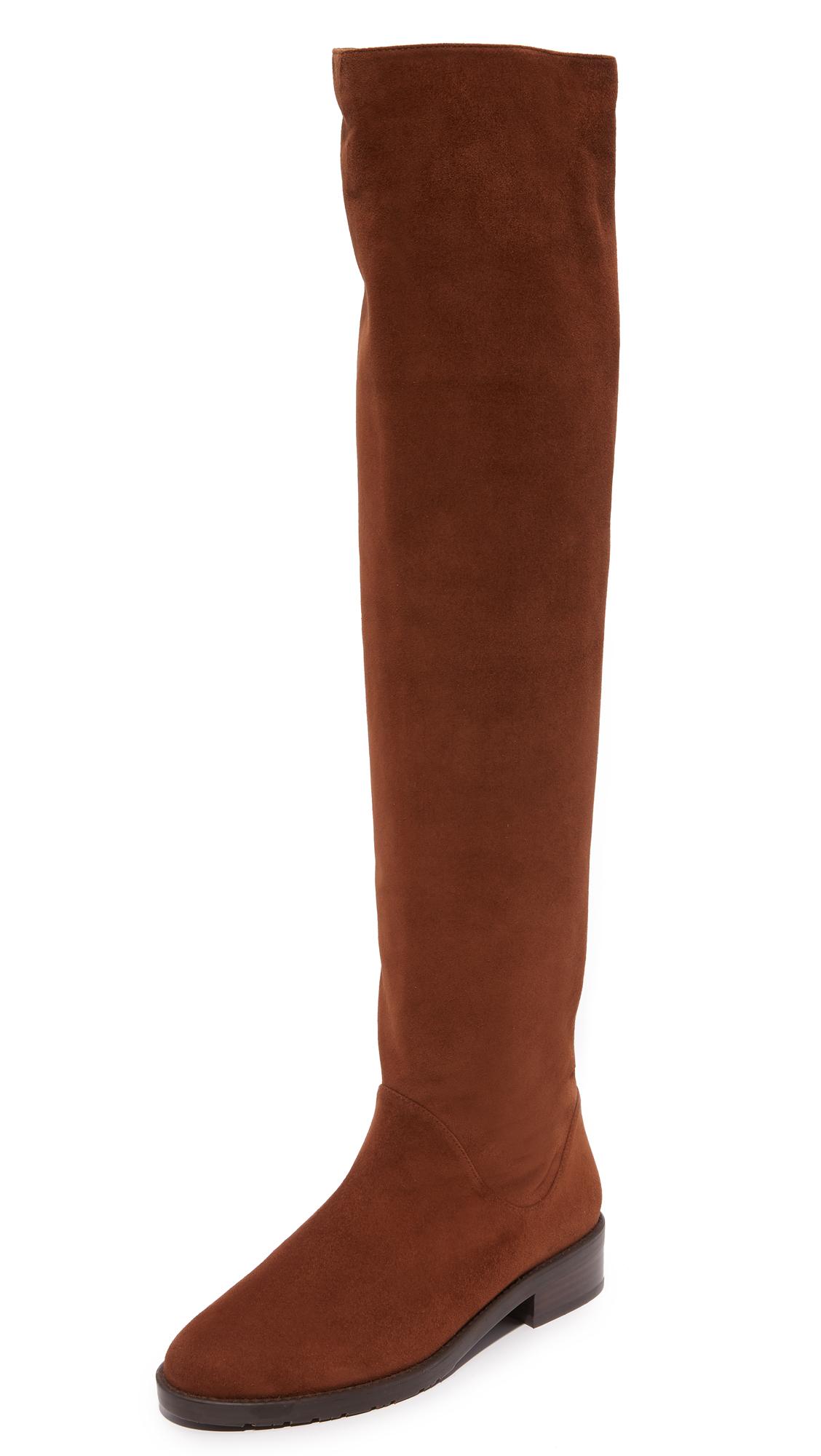 Stuart Weitzman Rockerchic Boots - Walnut