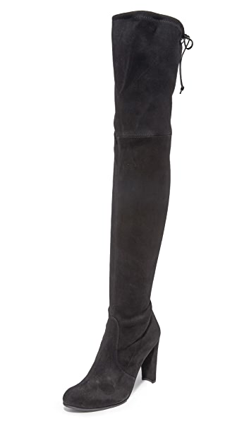 Stuart Weitzman Highland Over the Knee Boots - Black