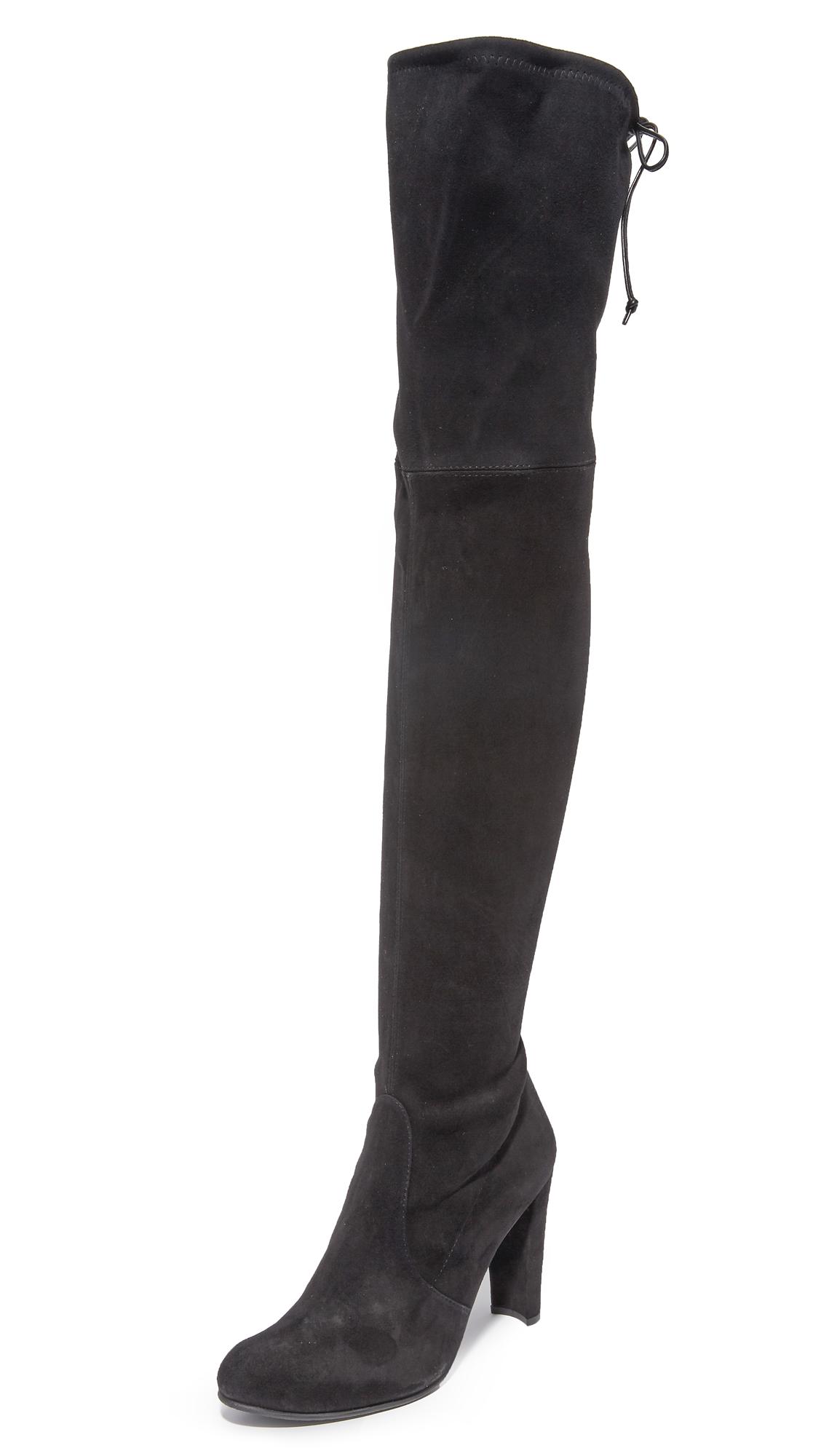 Stuart Weitzman Highland Over The Knee Boots - Black