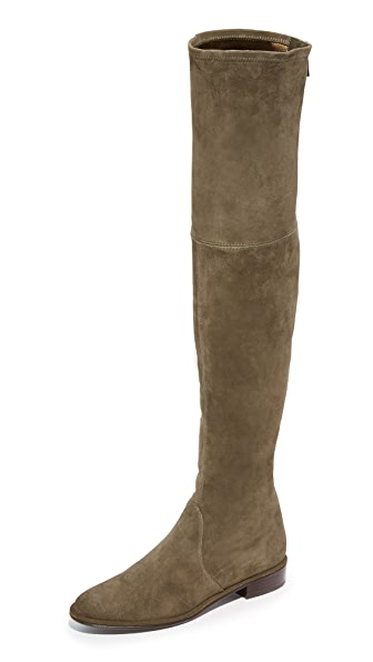 Stuart Weitzman Thigh Scraper Over the Knee Boots - Loden