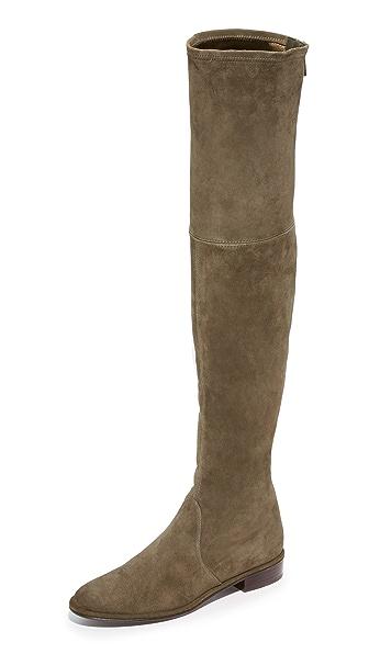 Stuart Weitzman Thigh Scraper Over the Knee Boots - Loden