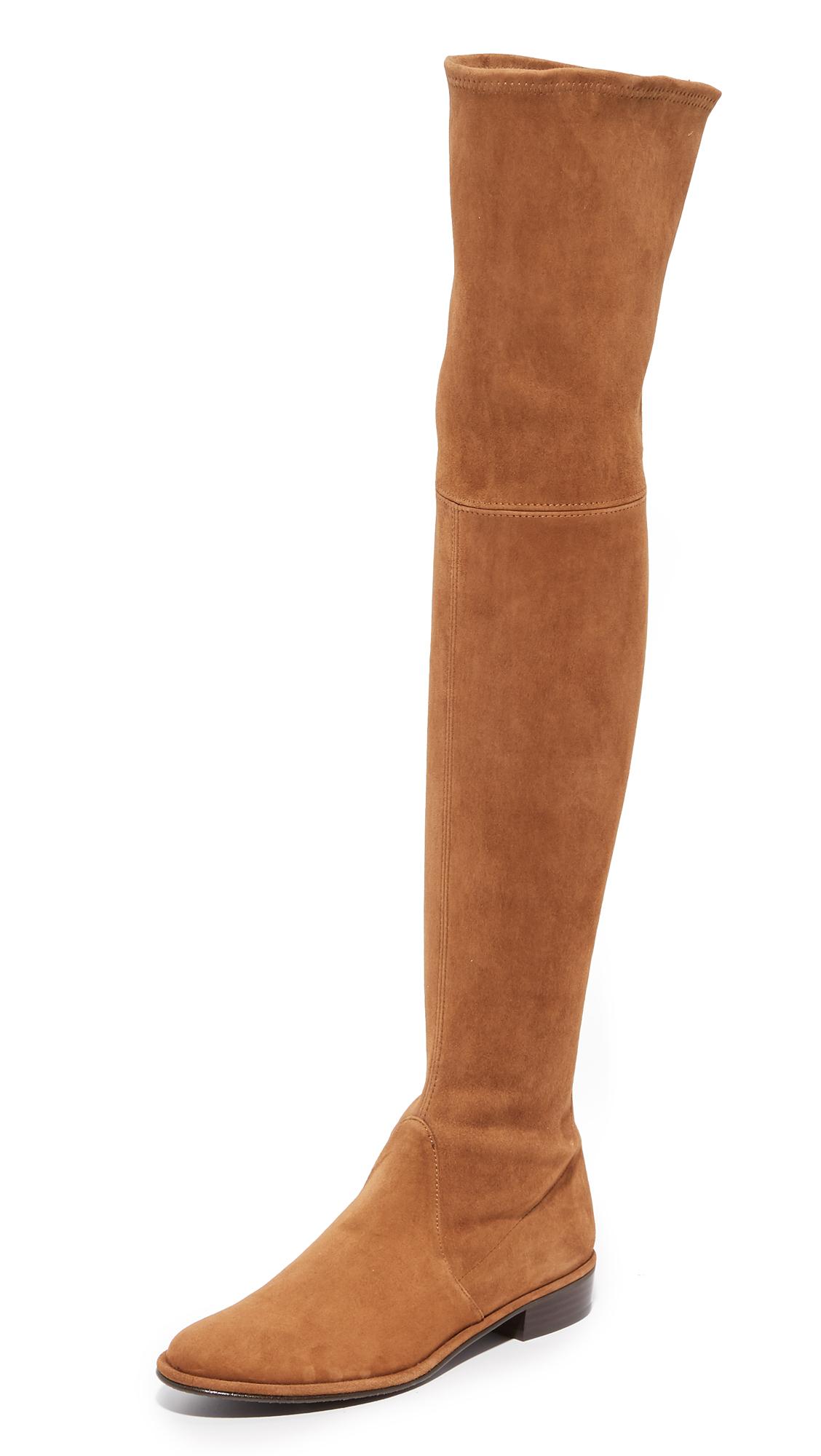 Stuart Weitzman Thigh Scraper Over The Knee Boots - Deer