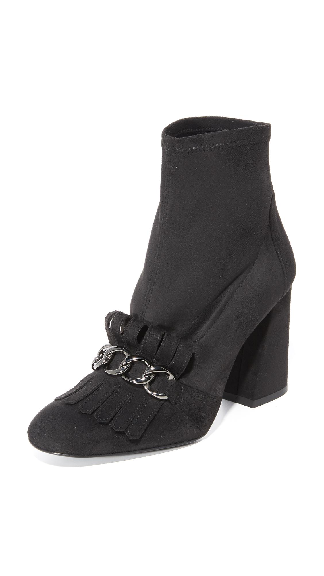 Stuart Weitzman Ringleader Loafer Booties - Noir