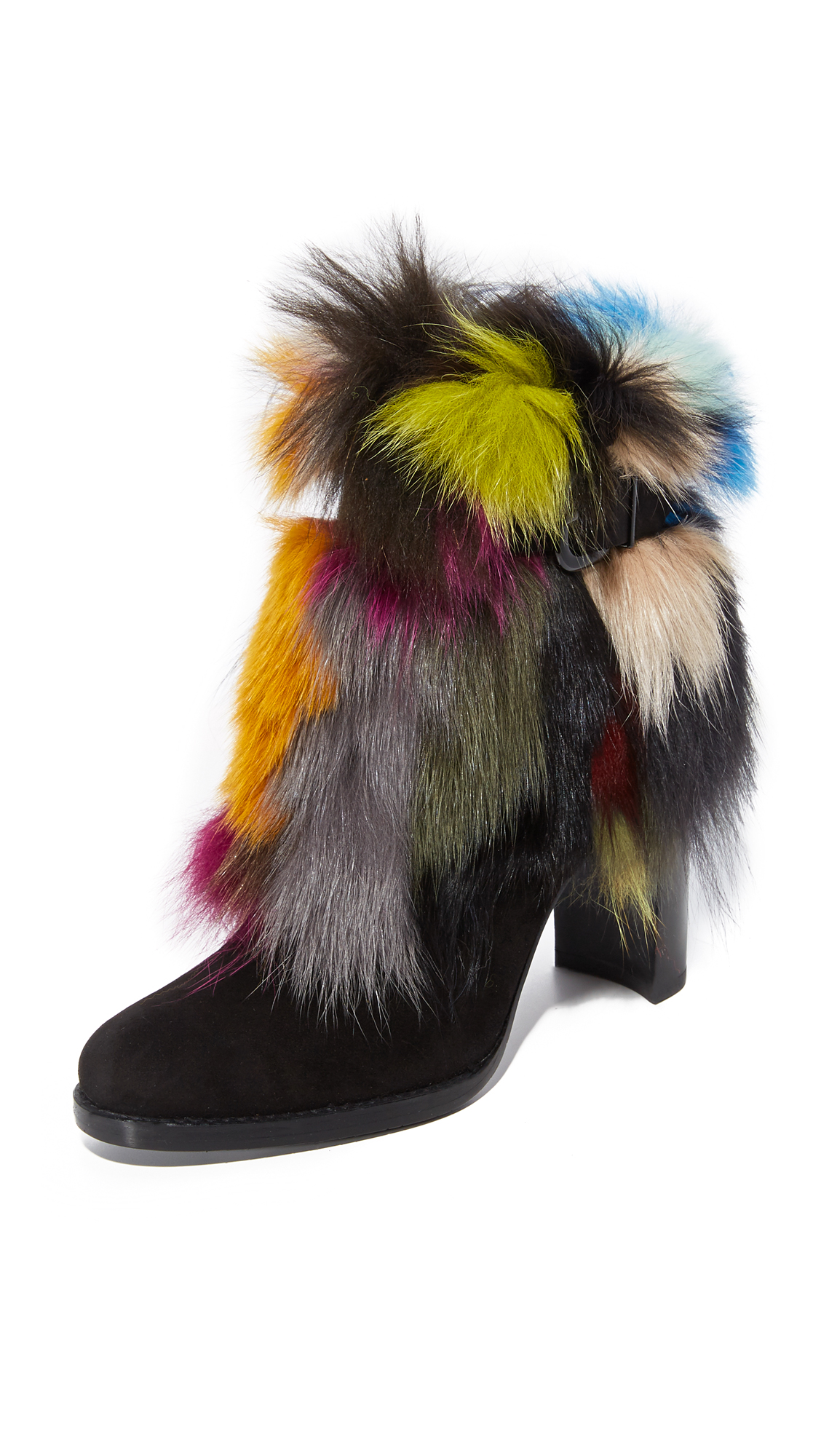 Stuart Weitzman Go Fur It Booties - Carnival