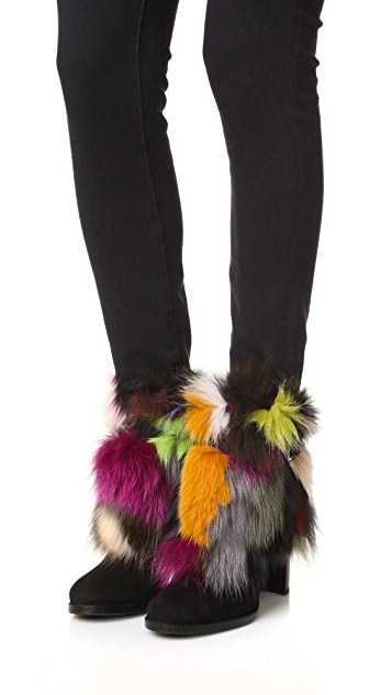 Stuart Weitzman Go Fur It Booties