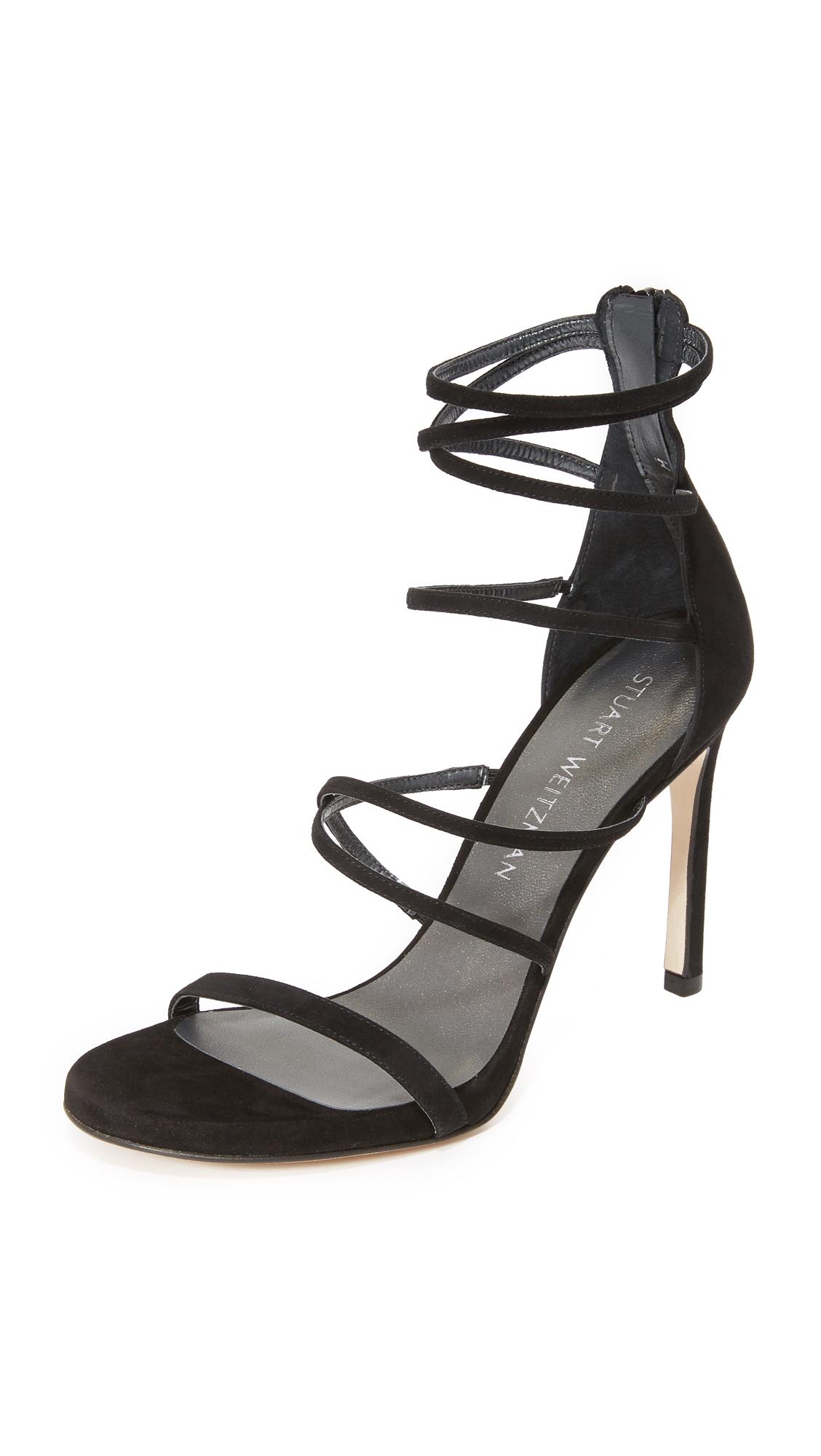 stuart weitzman female 188971 stuart weitzman myex sandals black