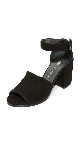 Stuart Weitzman Soho Gal Sandals - Black
