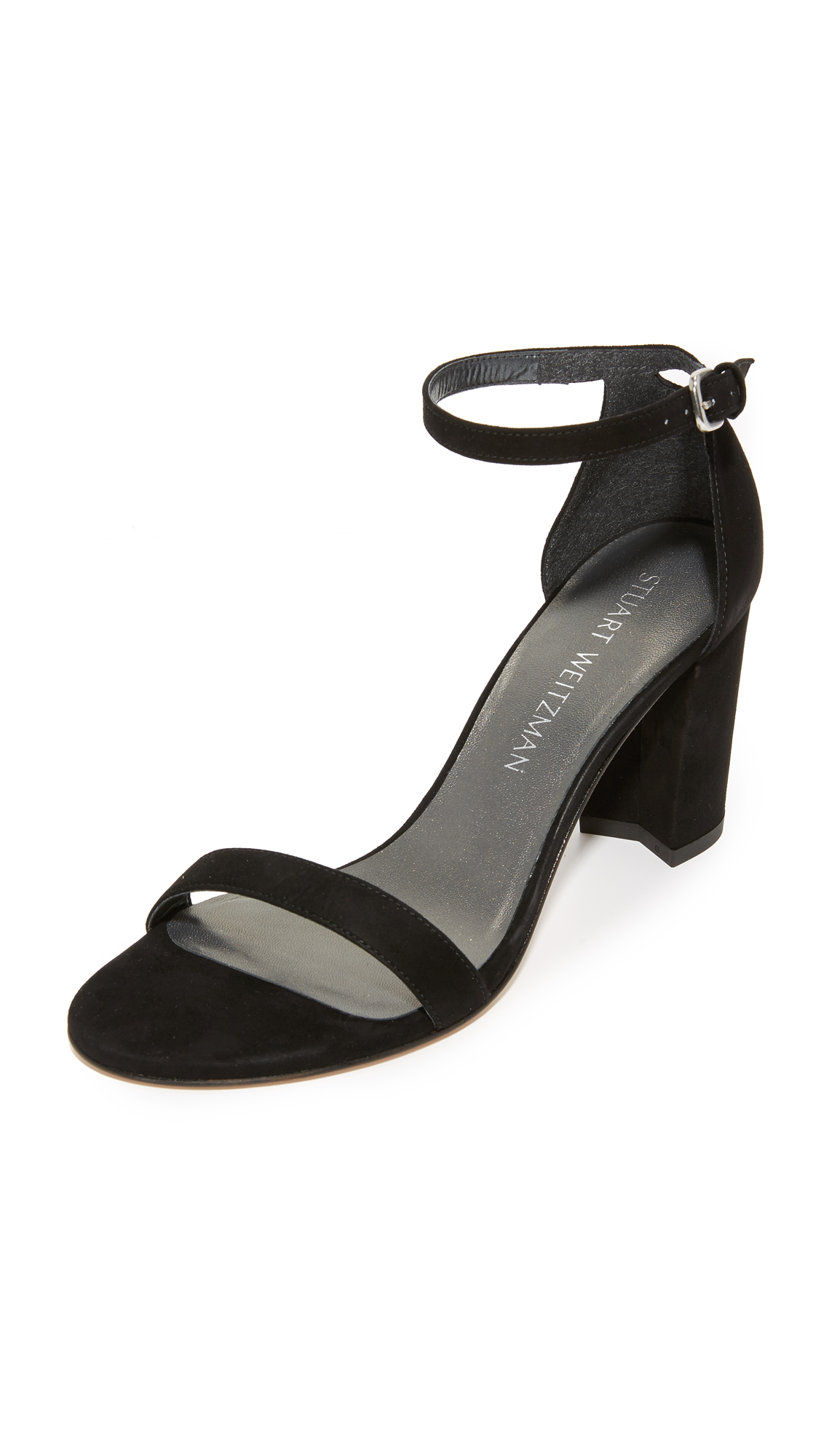 Stuart Weitzman Nearlynude Sandals - Black