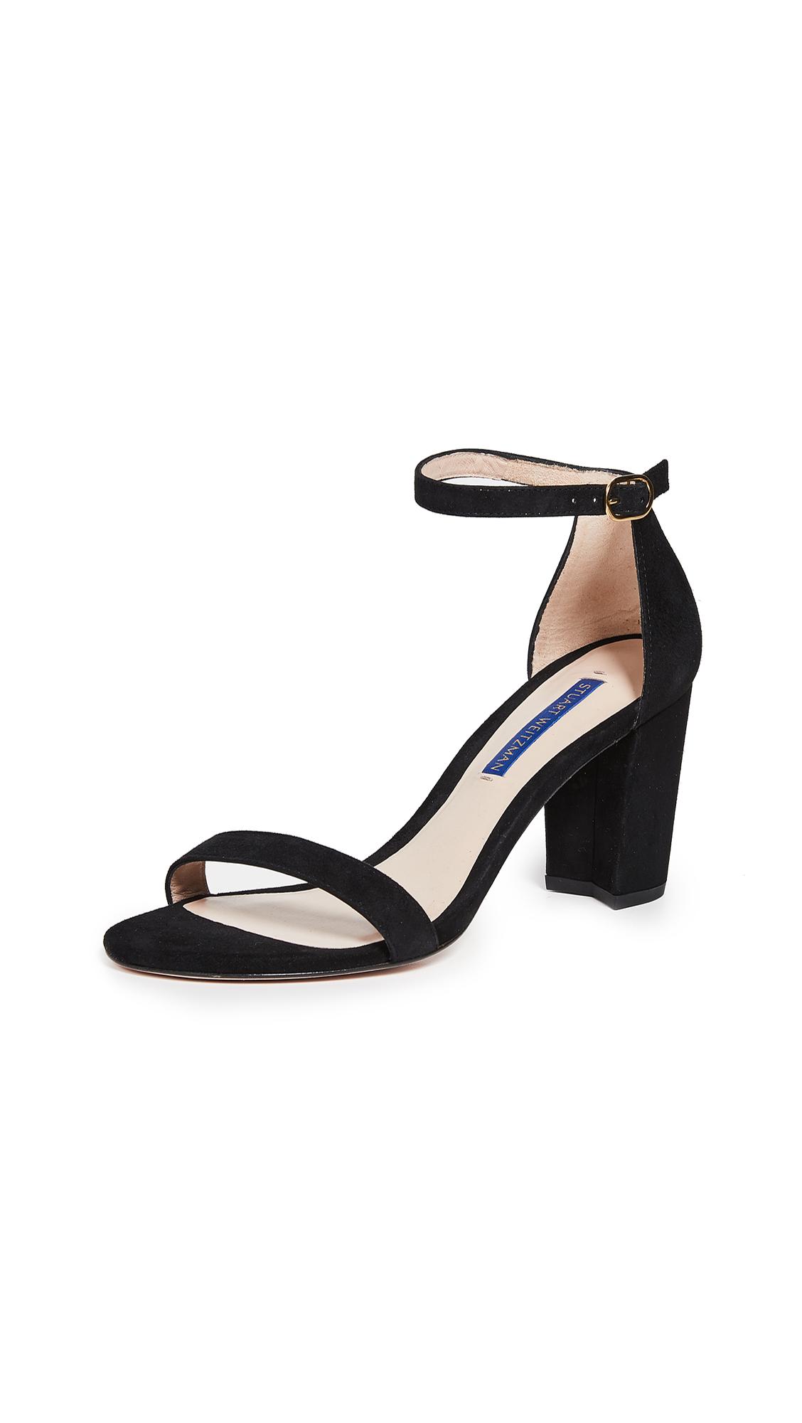 Stuart Weitzman Nearlynude Sandals - Black