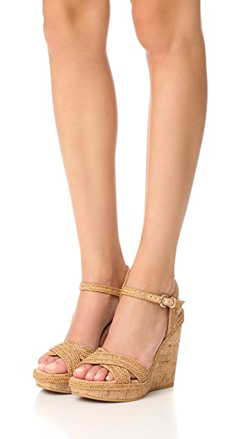 Stuart Weitzman Minx Wedge Sandals