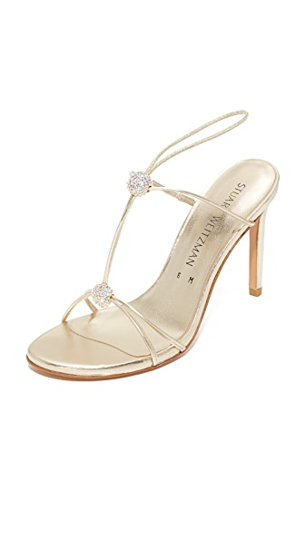 Stuart Weitzman Trixie Sandals - Gold