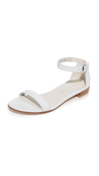Stuart Weitzman Nudist Flat Sandals - White