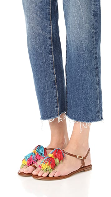 Stuart Weitzman Jabow Tassel Sandals