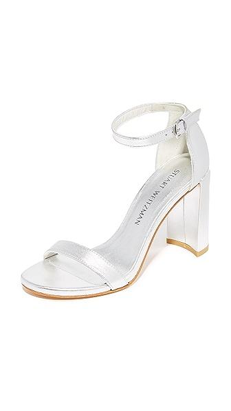 Stuart Weitzman Walkway Sandals - Silver
