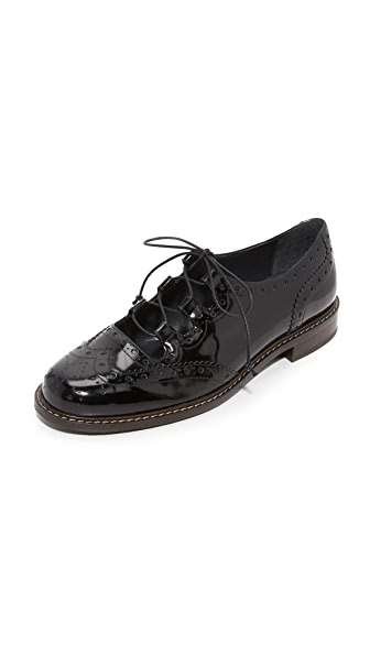 Stuart Weitzman Mrgill Lace Up Oxfords - Jet