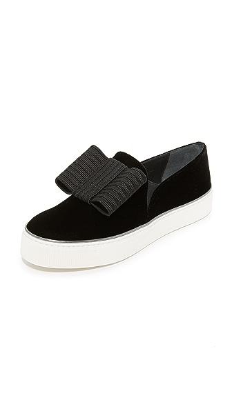 Stuart Weitzman Bowgal Platform Slip On Sneakers