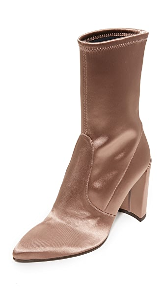 Stuart Weitzman Clinger Booties - Old Rose