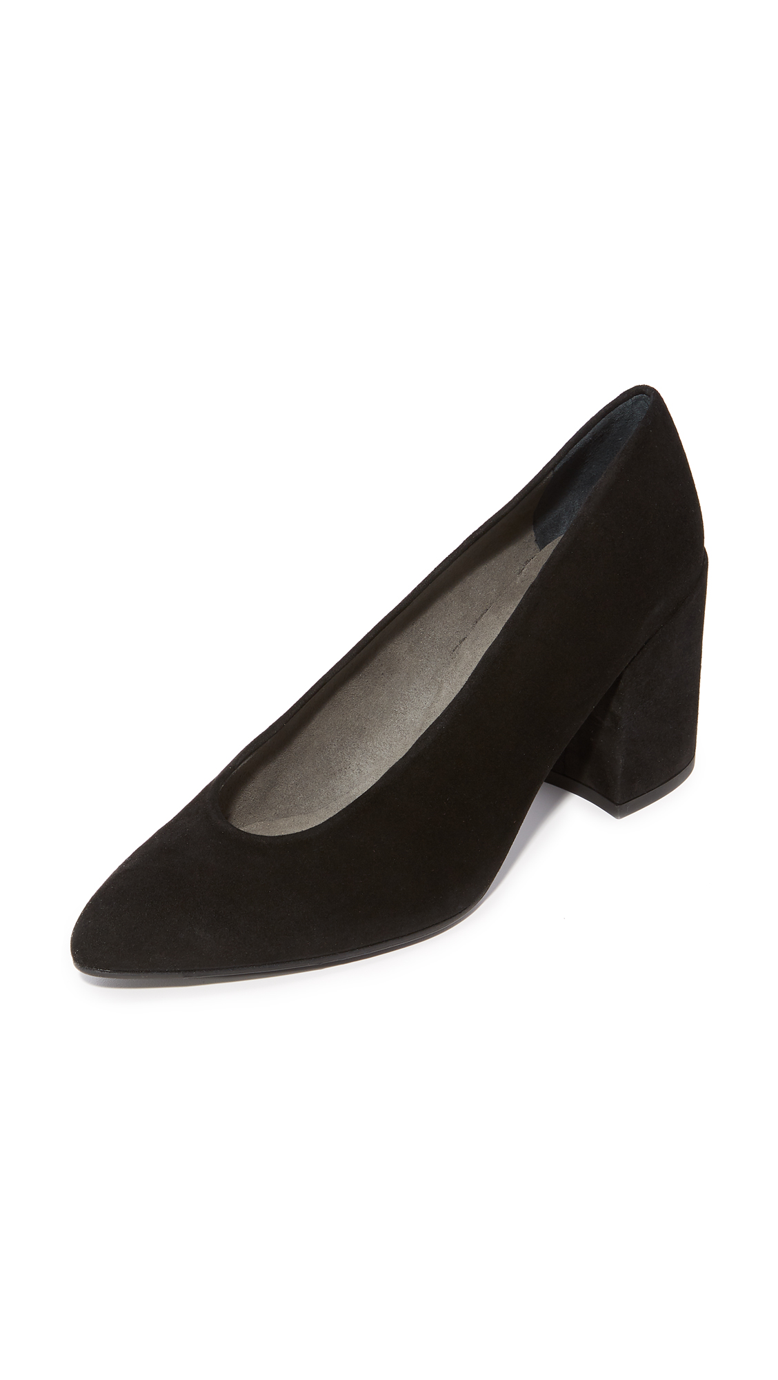 Stuart Weitzman Choke Up Block Heel Pumps - Black