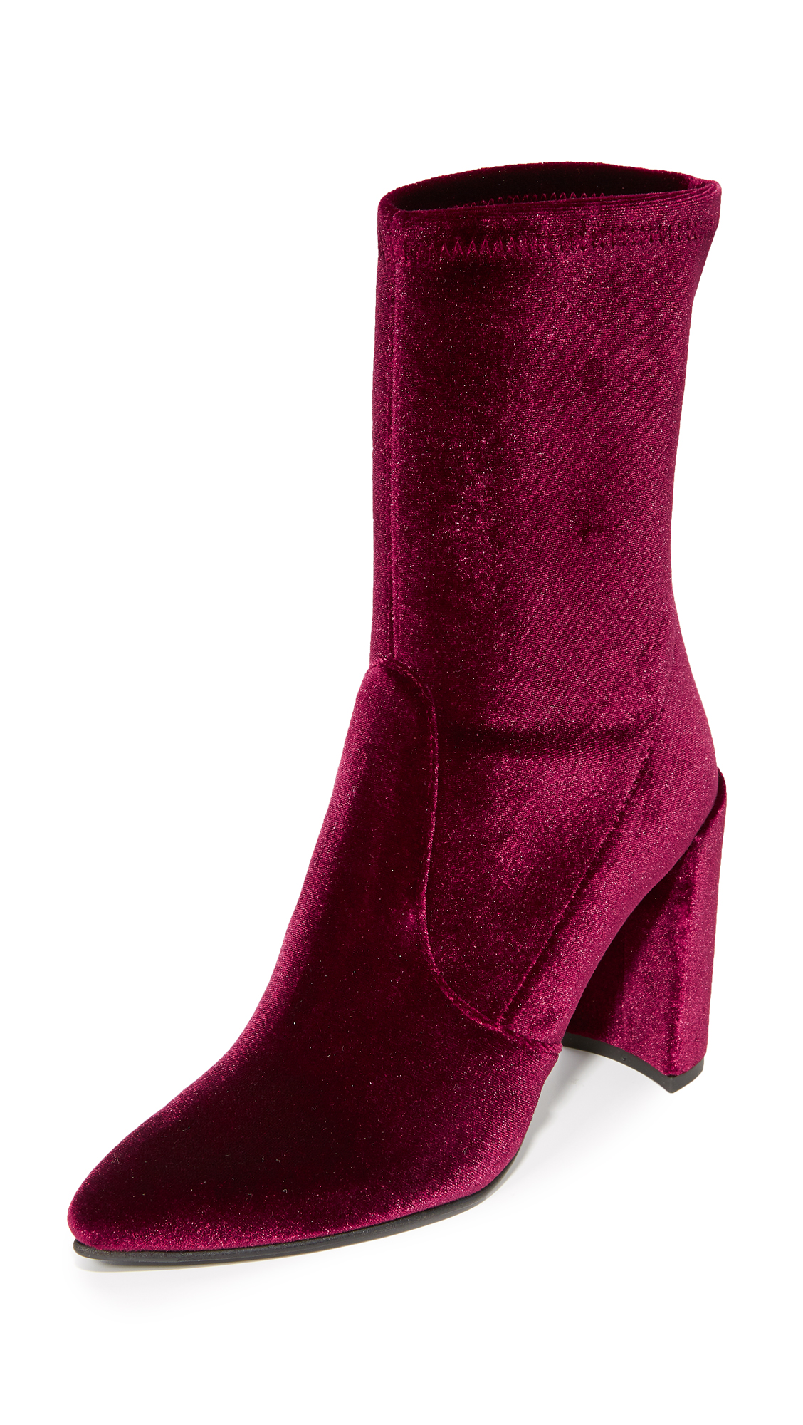Stuart Weitzman Clinger Stretch Booties - Bordeaux
