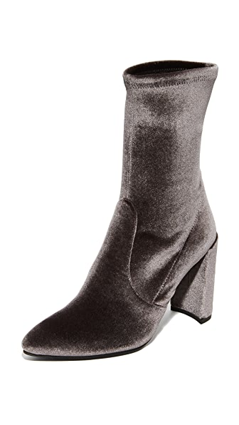 Stuart Weitzman Clinger Stretch Booties - Smoke