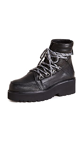 Stuart Weitzman Below Deck Platform Hiking Boots