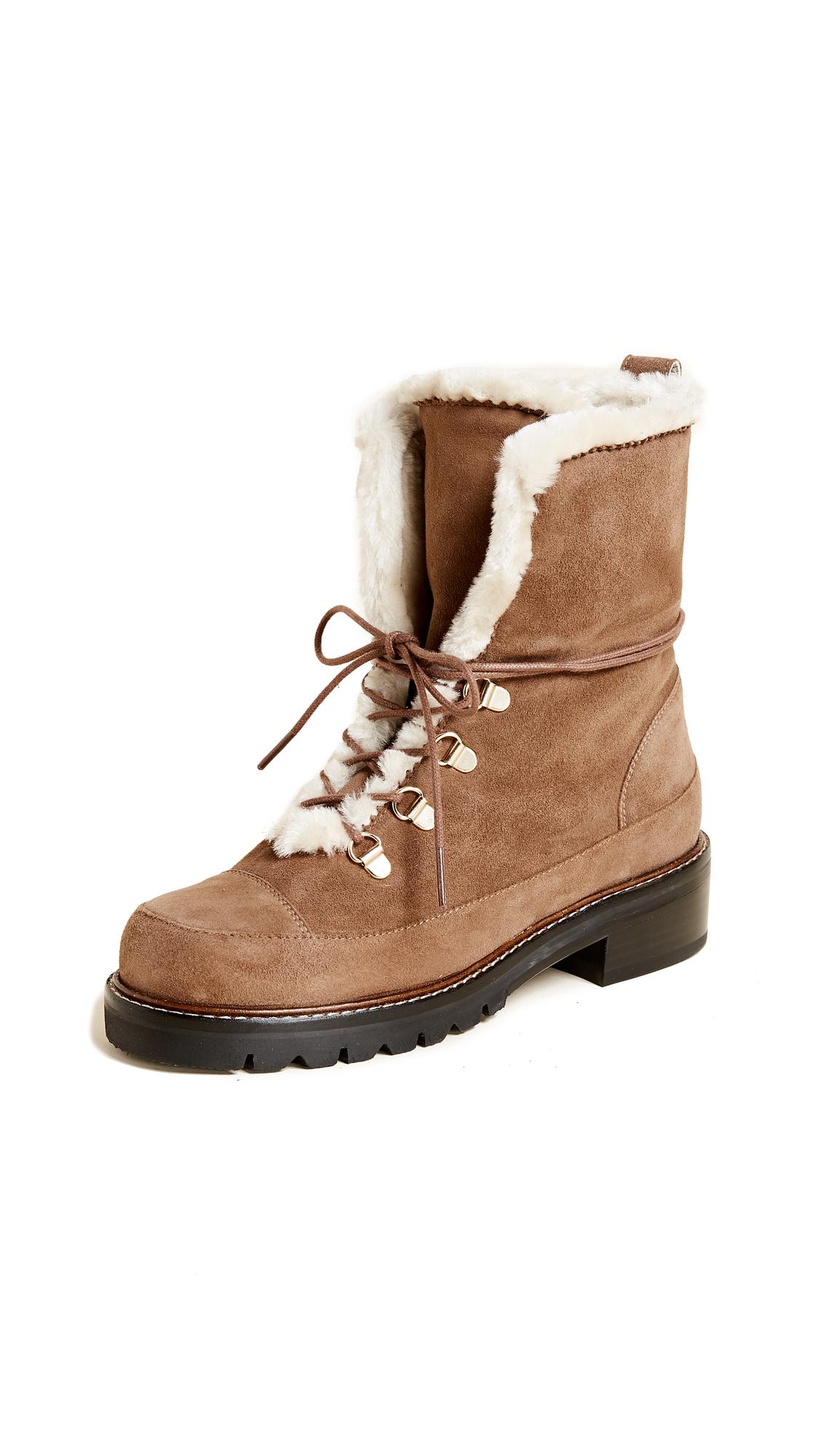 Stuart Weitzman Luge Hiking Boots - Nutmeg