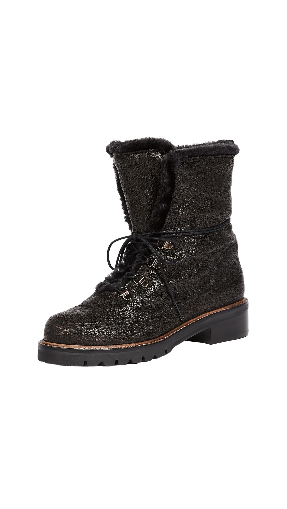 Stuart Weitzman Luge Hiking Boots - Nero