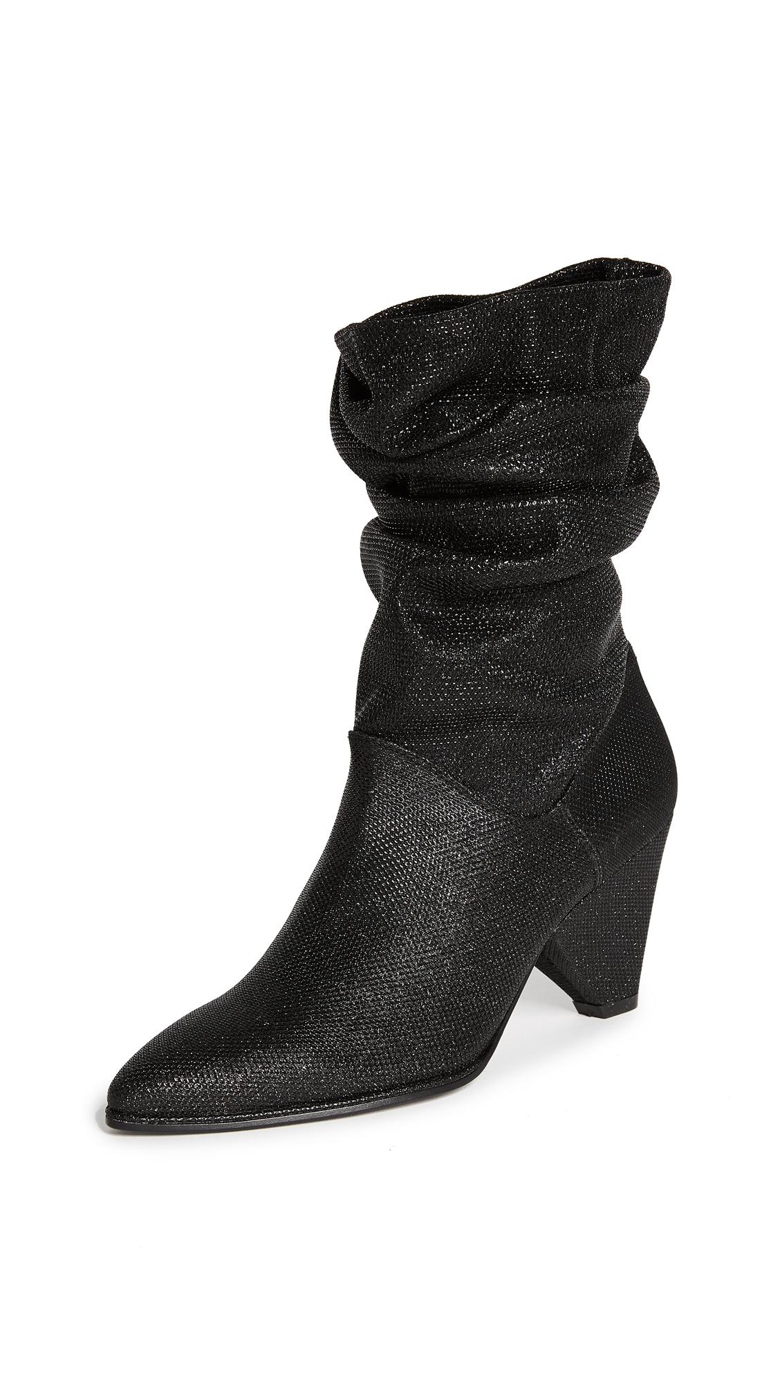 Stuart Weitzman Scrunch Boots - Black