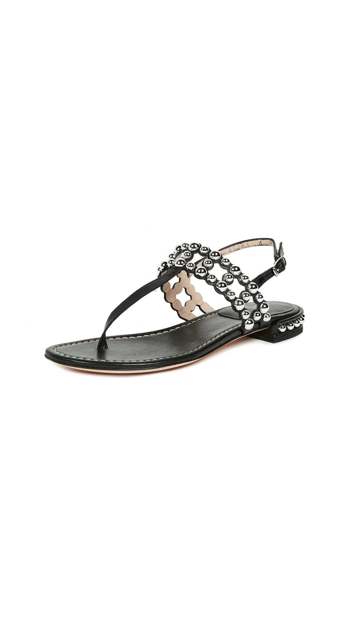 Stuart Weitzman Taxi Thong Sandals - Black