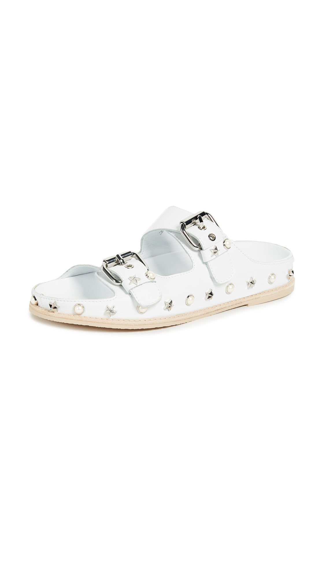 Stuart Weitzman Sandbar Sandals In White