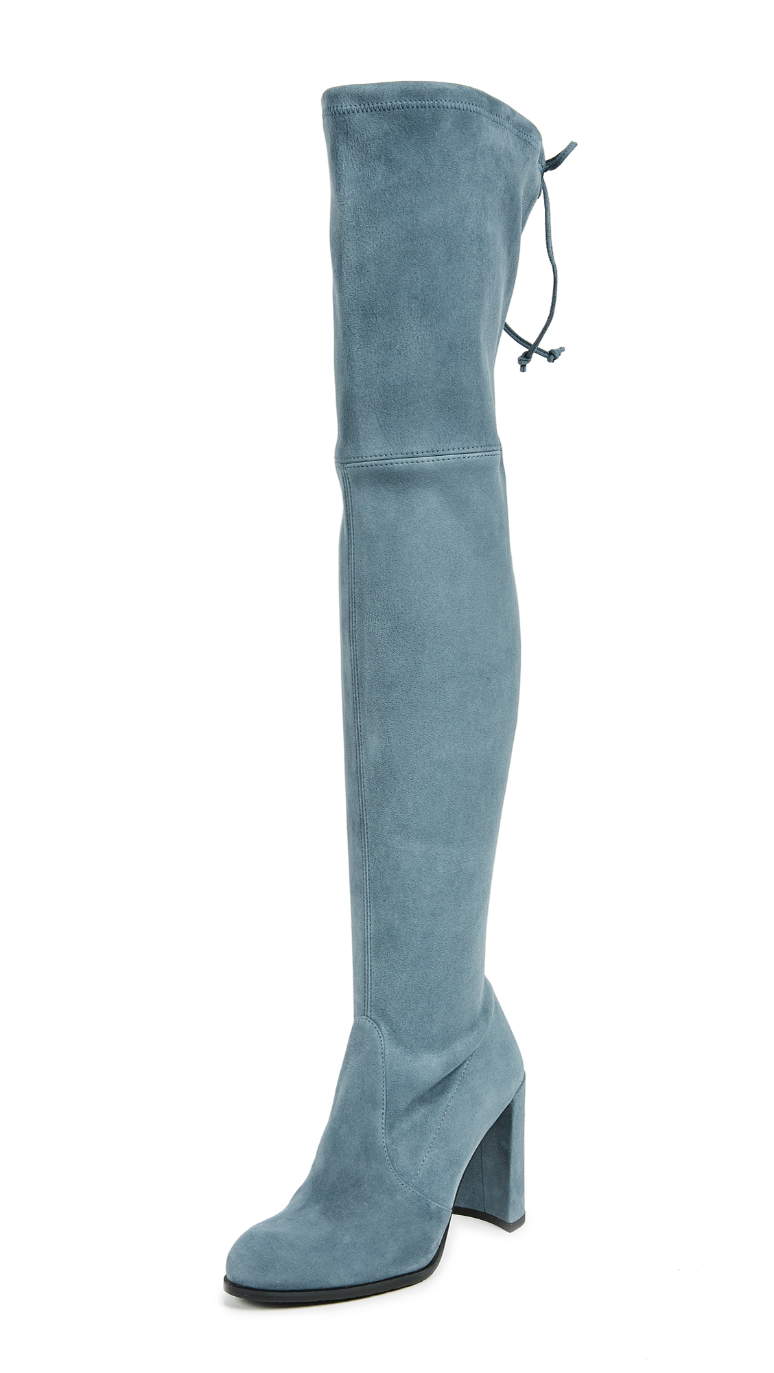 Stuart Weitzman Hiline Thigh High Boots - Denim