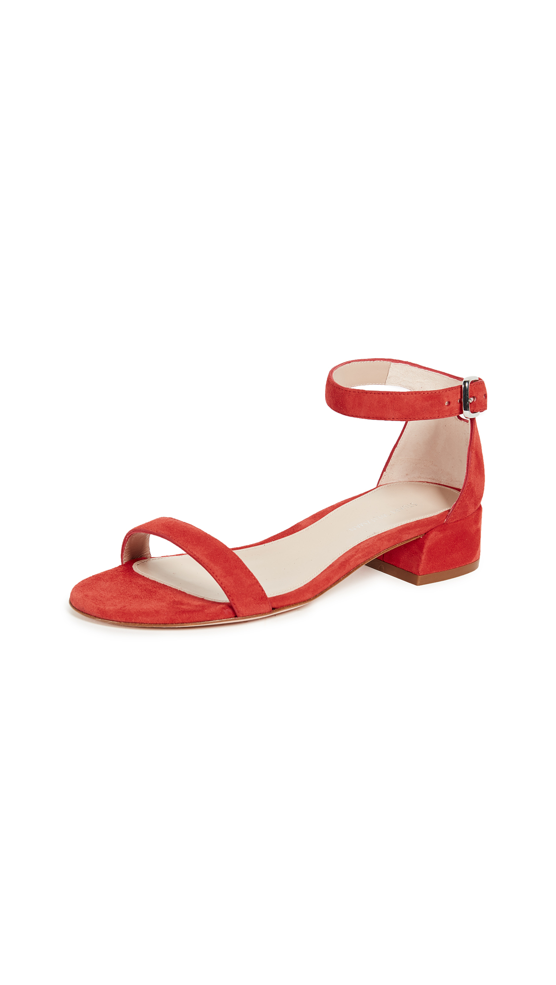 Stuart Weitzman Nudist June City Sandals - Pimento