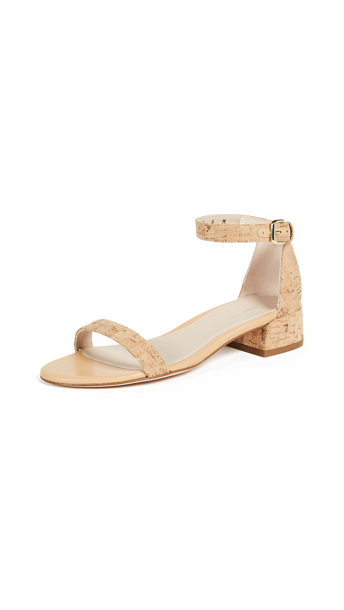 Stuart Weitzman Nudist June City Sandals - Natural